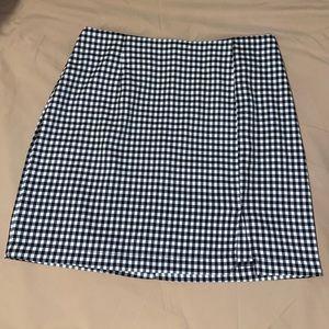 Mini skirt (black and white)